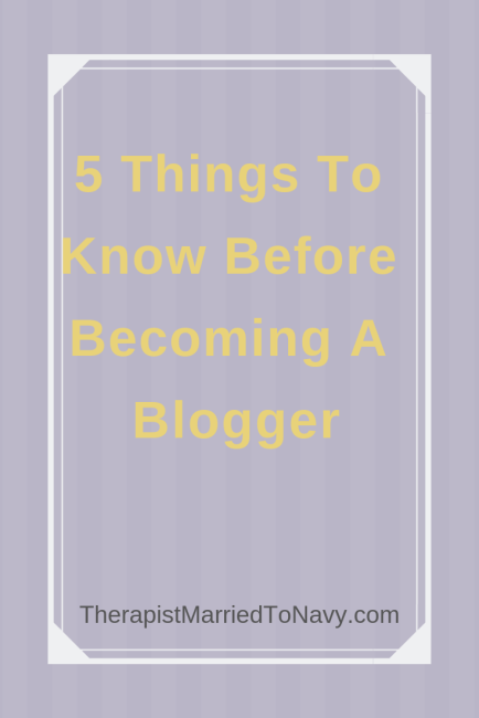 5 things to know before starting a blog