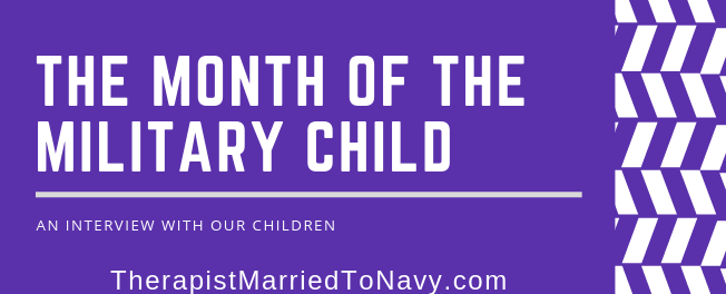 A purple banner for the month of the military child